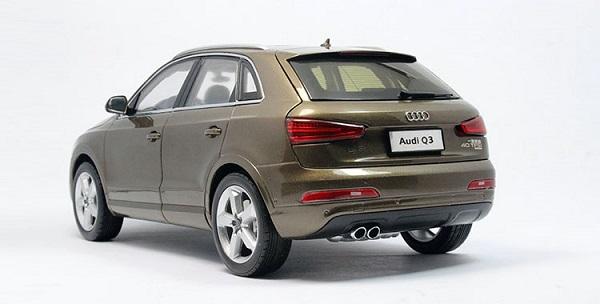 โมเดลรถ โมเดลรถเหล็ก โมเดลรถยนต์ Audi Q3 brown 2