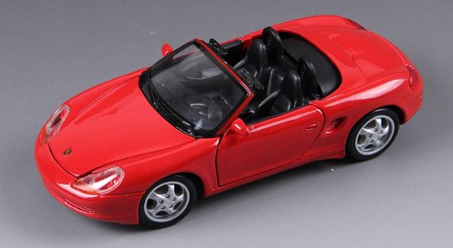 โมเดลรถ โมเดลรถยนต์ โมเดลรถเหล็ก Boxster Cabrio Red 1