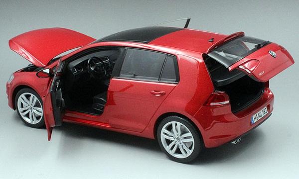 โมเดลรถ โมเดลรถเหล็ก โมเดลรถยนต์ Volkswagen Golf 7 red 5