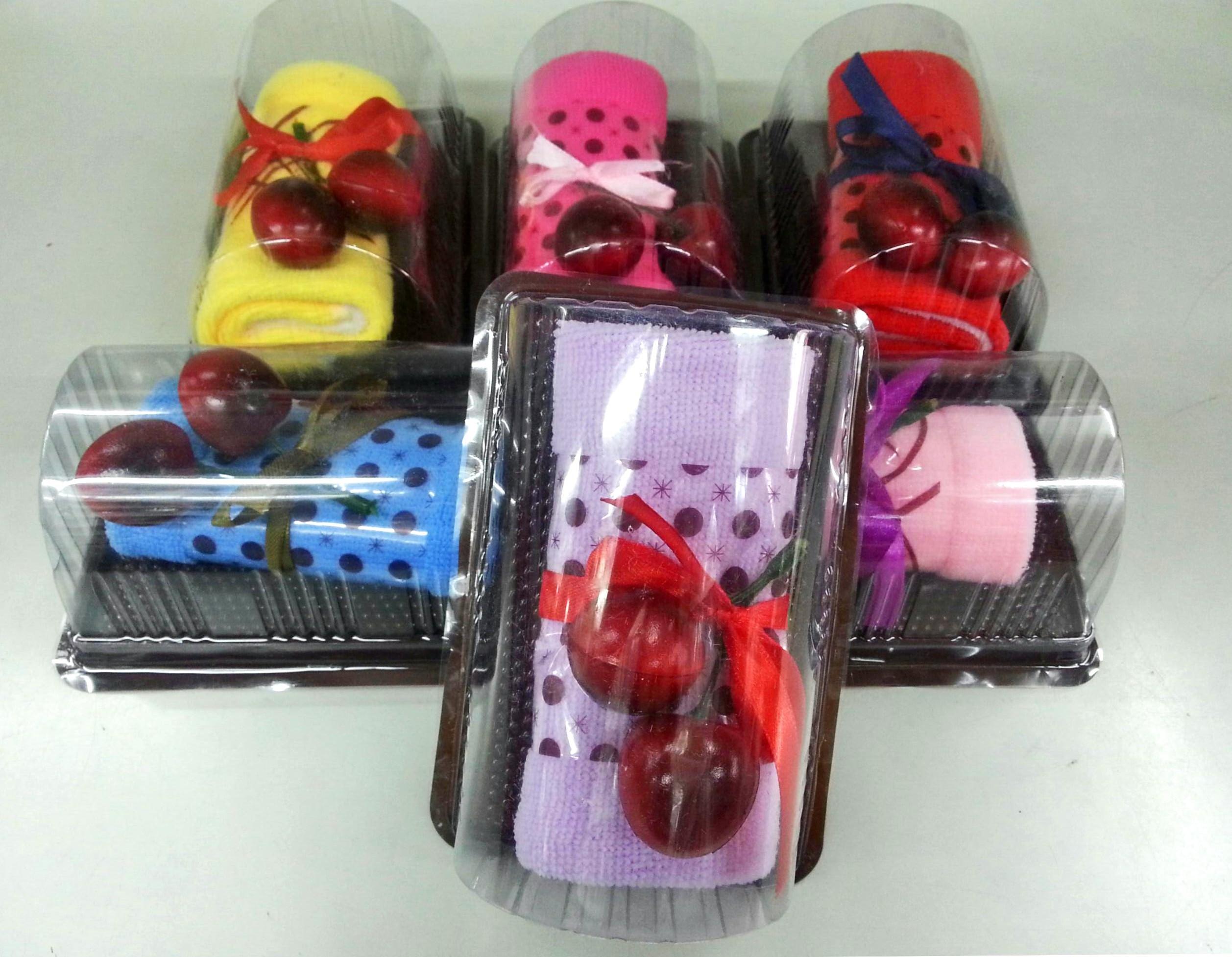 แยมโรลผ้าขนหนู เซอร์ไพร์สวันพิเศษ (วันเกิด,วันวาเลนไทน์,วันแห่งความรัก) สีม่วง