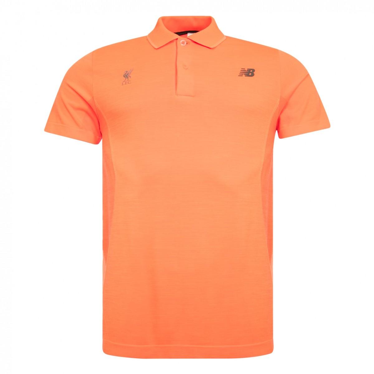 เสื้อโปโลนิวบาลานซ์ลิเวอร์พูลของแท้ New Balance Mens Orange M4M Seamless Polo