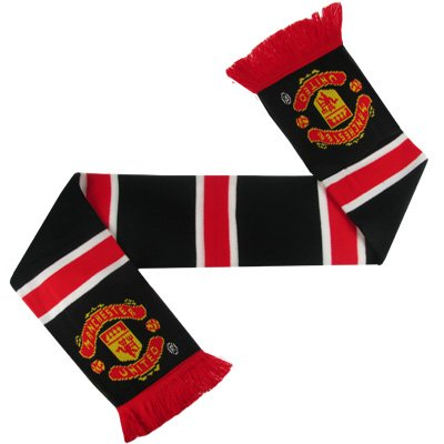 ผ้าพันคอ แมนยู ของแท้ 100% Manchester United Retro Bar Scarf - Black - Mens แดงขาวดำ จากสโมสรแมนเชสเตอร์ ยูไนเต็ด อังกฤษ เหมาะใช้เอง ของฝาก ของขวัญแด่คนสำคัญ