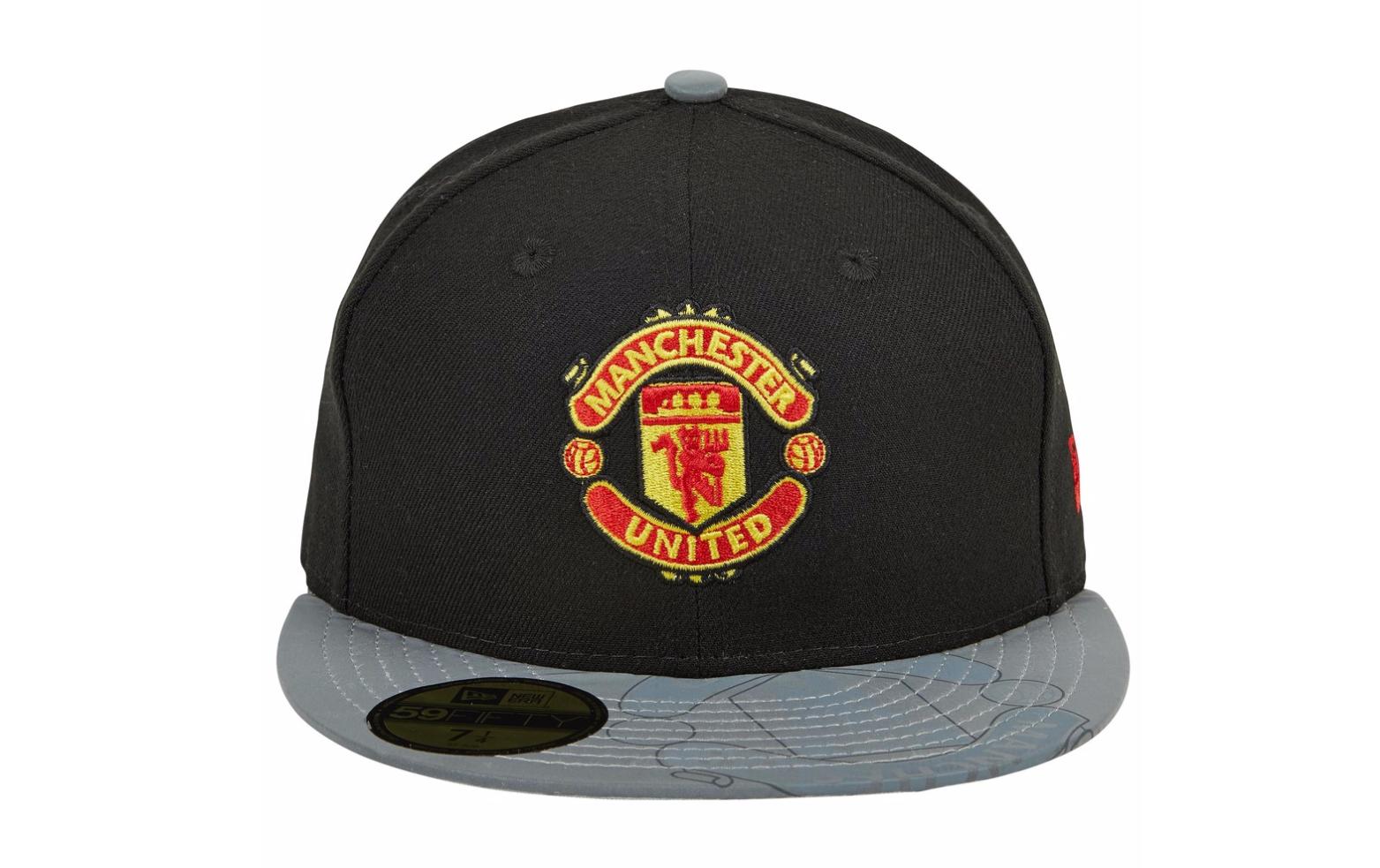 หมวกแก๊ปแมนเชสเตอร์ ยูไนเต็ด นิวอีร่ารีเฟลคทีฟไวเซอร์ 59ฟิฟตี้สีดำของแท้