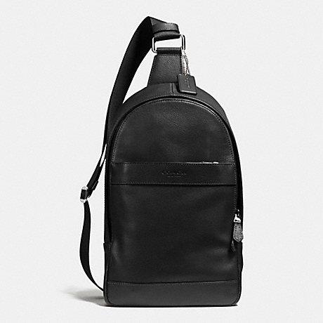 กระเป๋าผู้ชาย COACH CHARLES PACK IN SMOOTH LEATHER F54770 : BLACK