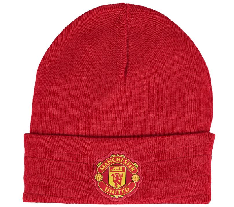 หมวกแมนเชสเตอร์ ยูไนเต็ดของแท้ Manchester United 3 Stripe Woolie Hat Red