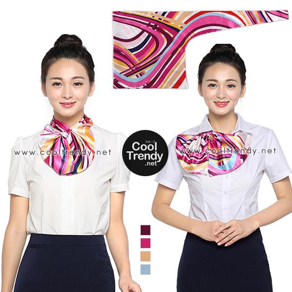 ผ้าพันคอสำเร็จรูป ผ้ายูนิฟอร์ม uniform ผ้าไหมซาติน : L17
