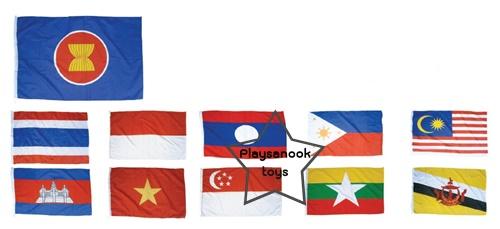 SKAEC-13 ธงประจำชาติอาเซียน(1 ชุด มี 11 ผืน)
