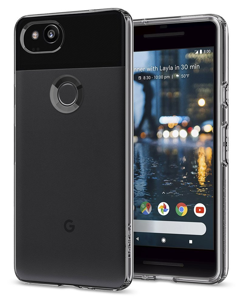 Spigen Liquid Crystal Google Pixel 2 Case with Slim Protection and Premium Clarity