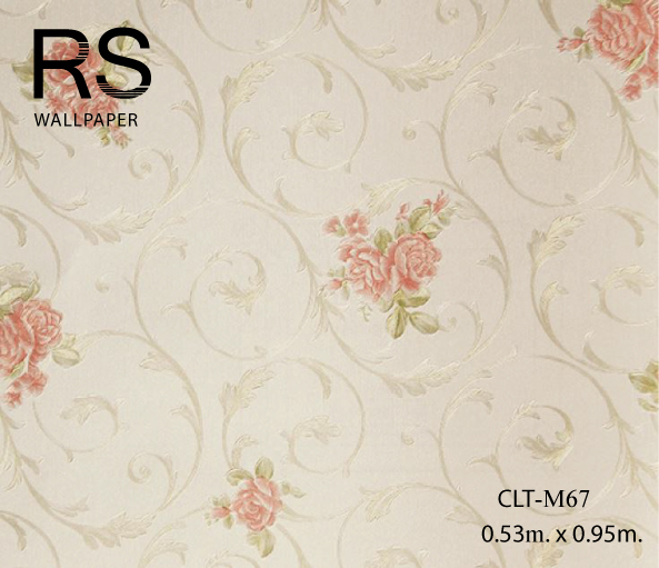 วอลเปเปอร์ลายดอกไม้ CLT-M67