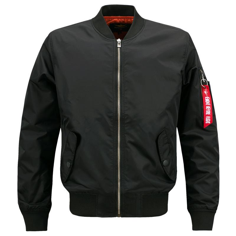 พร้อมส่ง เสื้อแจ็คเก็ต สีดำ แต่งซิปที่แขน ทรงแจ็คเก็ตเบสบอล แจ็คเก็ตผู้ชาย
