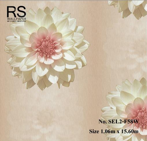 วอลเปเปอร์ลายดอกไม้ SEL2-F58W