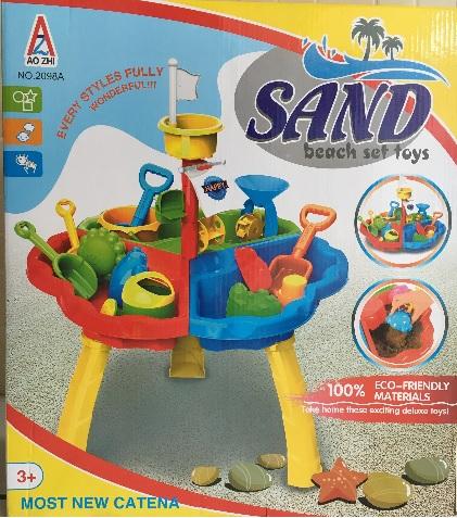 โต๊ะทรายพร้อมอุปกรณ์ 17 ชิ้น Sand beach set toy ส่งฟรี