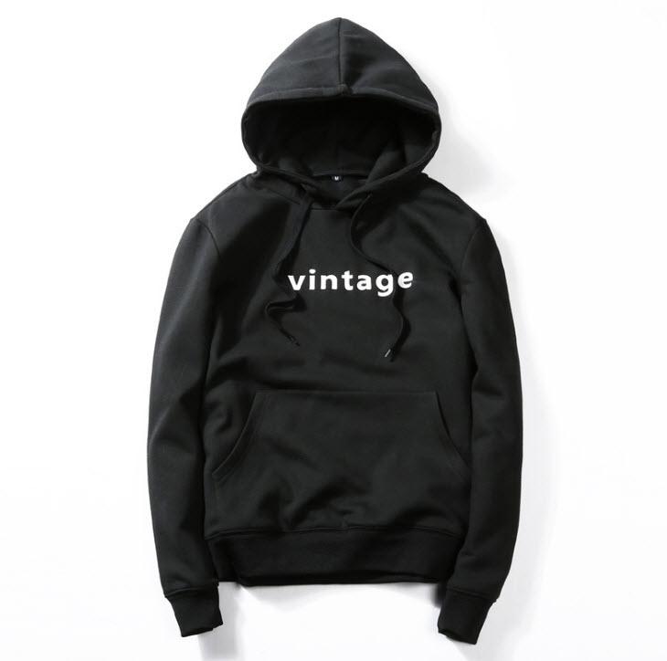 พร้อมส่ง เสื้อฮู้ด สีดำ สกรีนด้านหน้า ผ้าฟรีช มีฮูท แจ็คเก็ตกันหนาวผู้ชาย แฟชั่นหน้าหนาว hoodie jacket