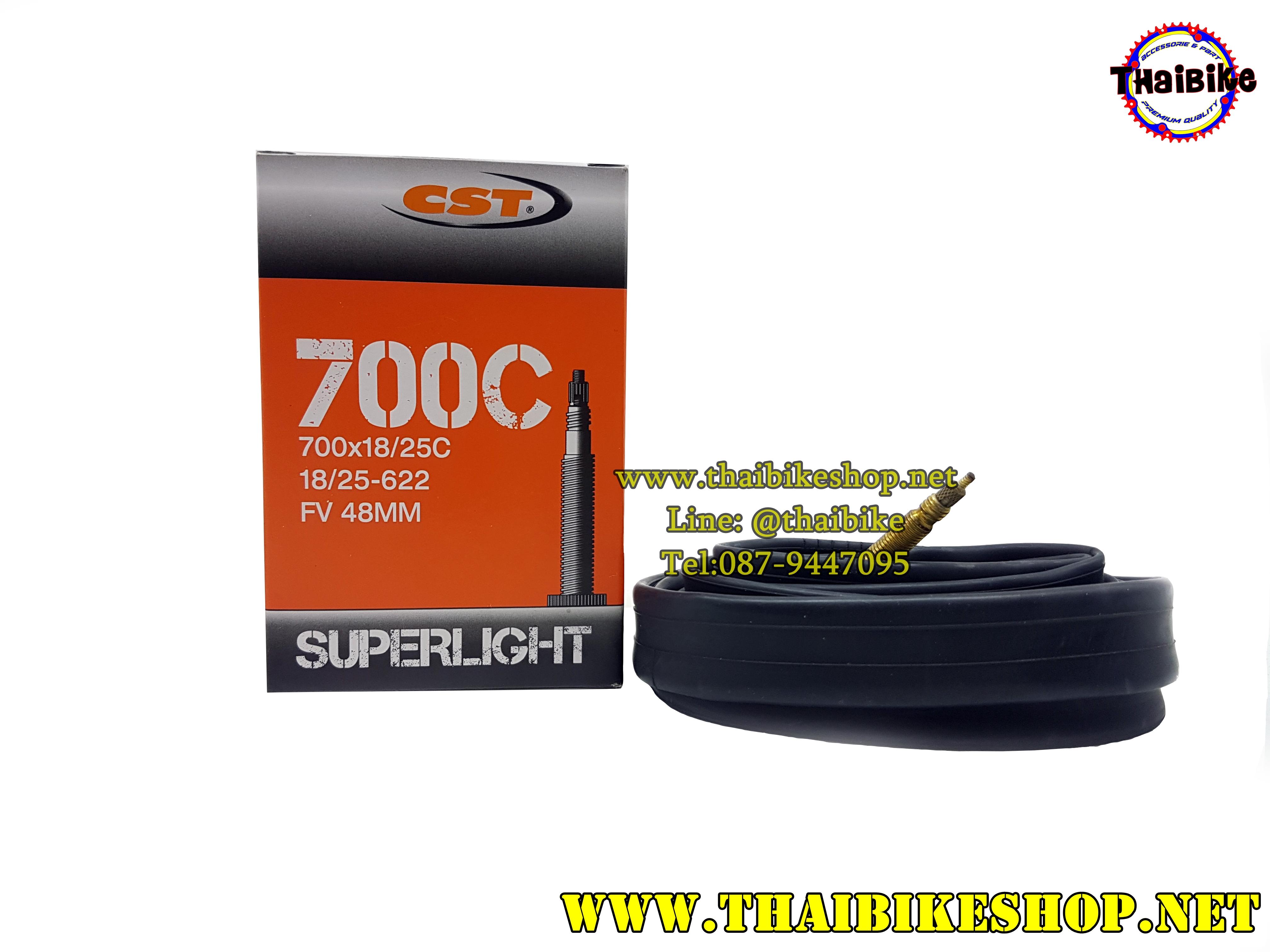 ยางใน CST SUPERLIGHT 700*18/25C 18/25-622 FV 48MM