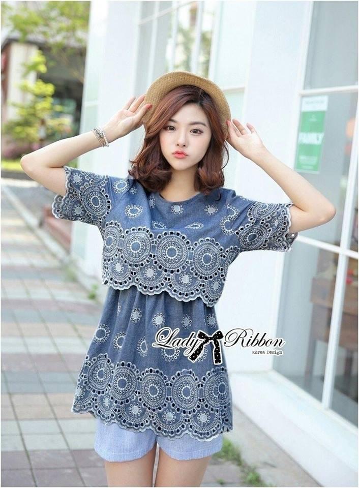 Lady Ribbon's Made Lady Amy Sweet Chic Laser-Cut Cotton Dress