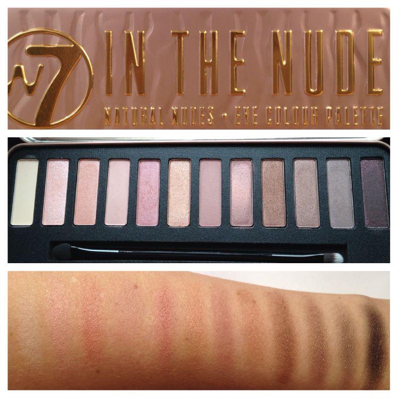 W7 in the Nude Eyeshadow Palette ฝาแฝด UD Naked Palette 3 ตัวดัง