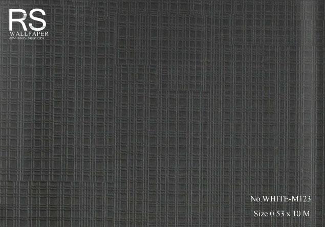วอลเปเปอร์พื้นสีเทา-ดำ WHITE-M123