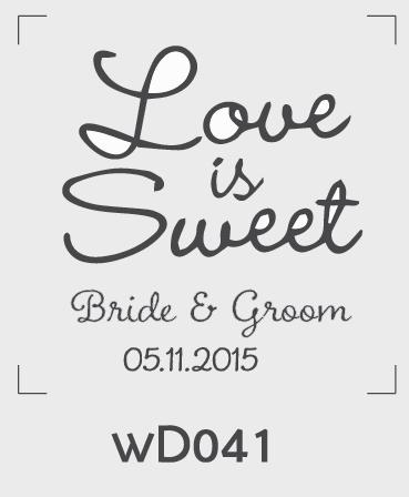 ตราปั๊มงานแต่ง WD041