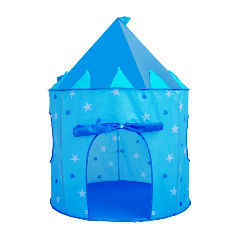 เต็นท์ปราสาท สีฟ้า
