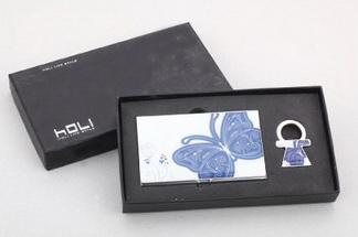 กล่องใส่นามบัตร+พวงกุญแจ (เซ็ท)