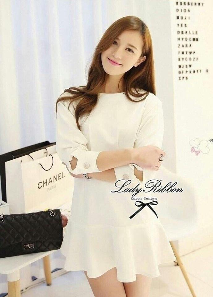 Lady Ribbon's Made Lady White Bella Mini dress