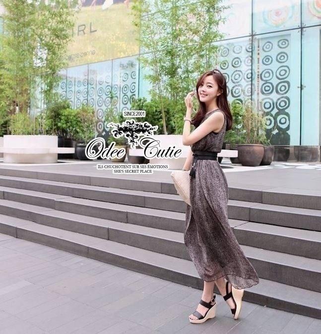Creative Chocolate Long Dress