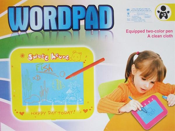 Word Pad กระดานพลาสติก มีไฟส่องด้านล่าง