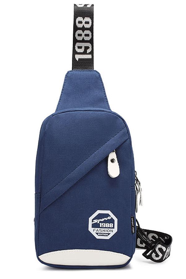 พร้อมส่ง!!! fashion กระเป๋าสะพายไหล่ รุ่น FT09 ( สีน้ำเงิน )