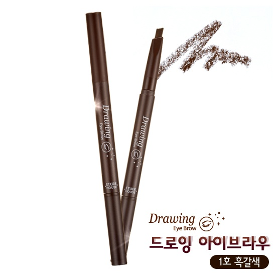 Etude House Drawing Eye Brow #1 Dark Brown สีน้ำตาลดำ