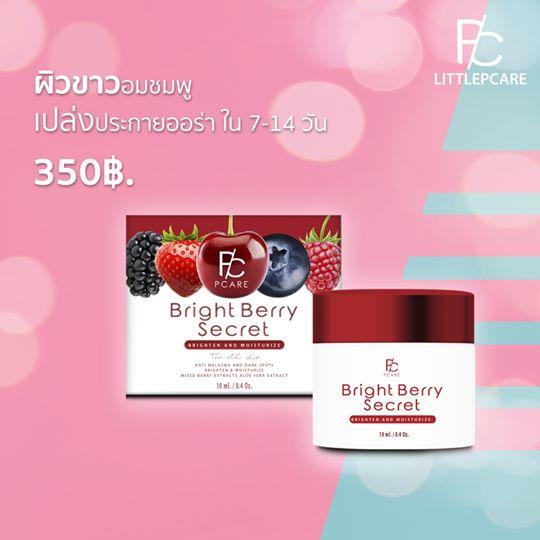 Bright Berry Secret Cream ฟื้นฟูผิวหน้าให้ขาวกระจ่างใส พร้อมลดรอยสิว ฝ้า กระ จุดด่างดำ เลขจดแจ้ง 10-1-5638926