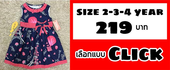 เสื้อผ้าเด็ก 2-4 ปี (size 2-3-4 ปี)