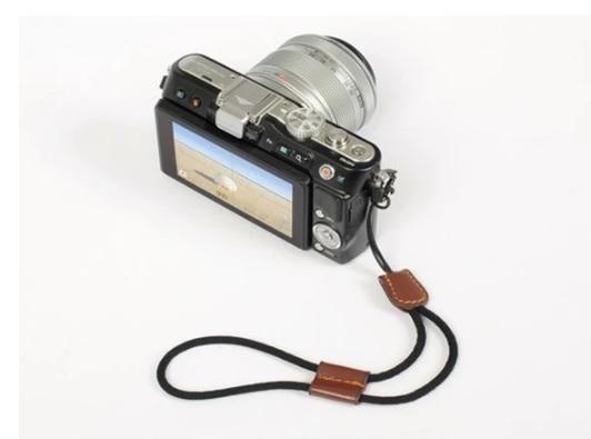 สายคล้องข้อมือผสมหนังPUสำหรับกล้องmirrorless,โพลารอยด์ สีน้ำตาล