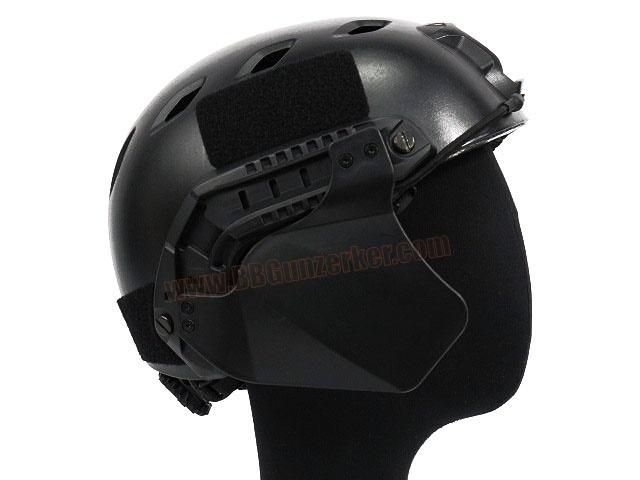 Side Cover สำหรับหมวก Fast สีดำ - FMA