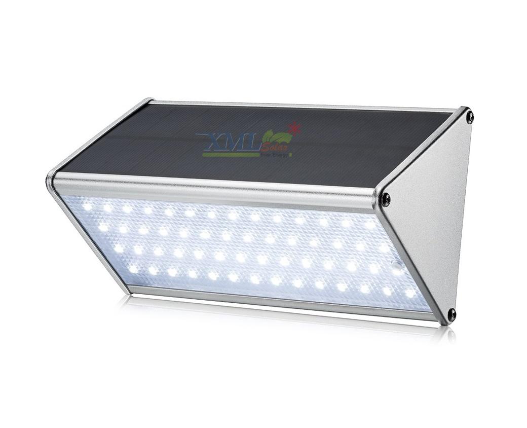 โคมไฟโซล่าเซลล์ ติดผนัง ทรงสามเหลี่ยม 56 SMD LED (เเสง : ขาว)