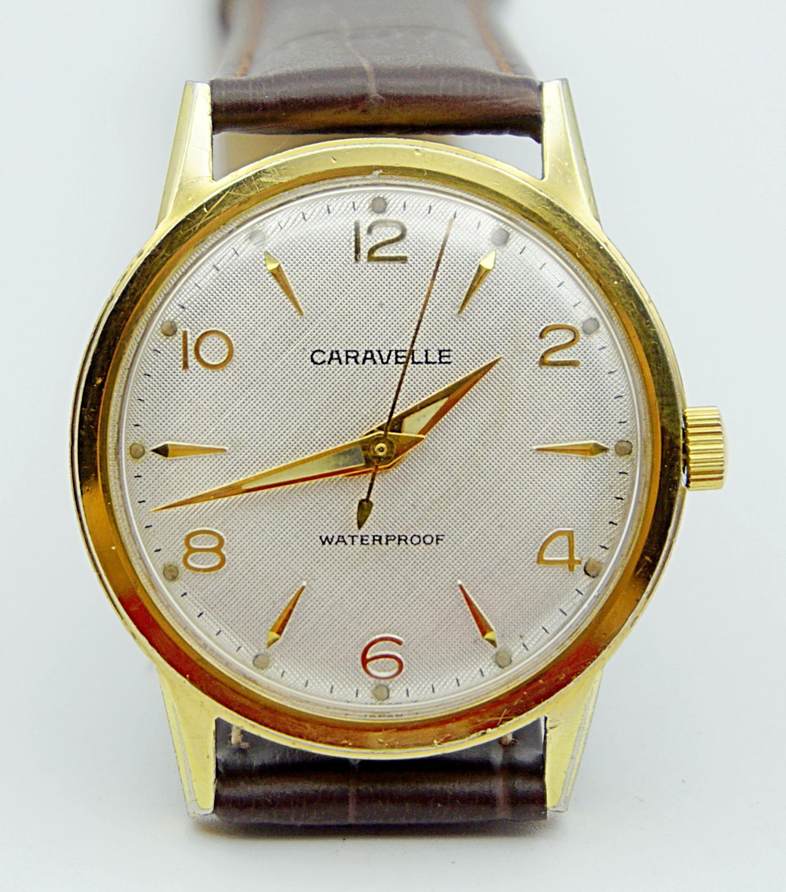 นาฬิกาเก่า CARAVELLE ไขลาน