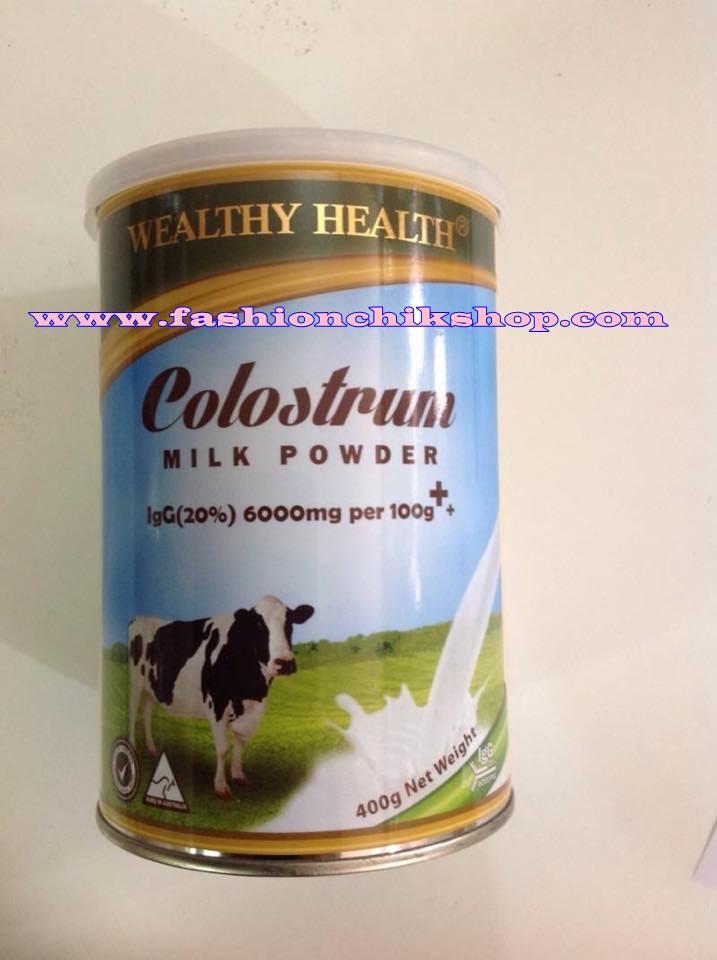 พร้อมส่ง Wealthy Health เป็นนมน้ำเหลืองเกรดพรีเมี่ยม ผลิตจากแม่วัวพันธุ์ดี