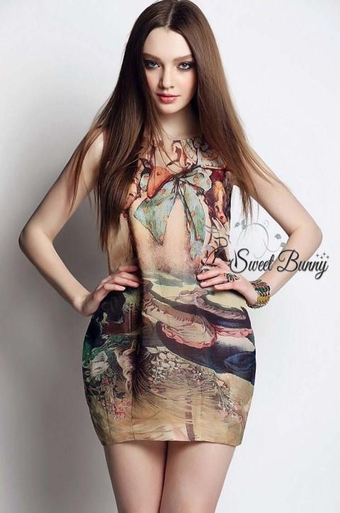 ชุดเดรสเกาหลี พร้อมส่งเดรสหงส์ ใช้ผ้าเนื้อดีมีน้ำหนักทิ้งตัวสวย
