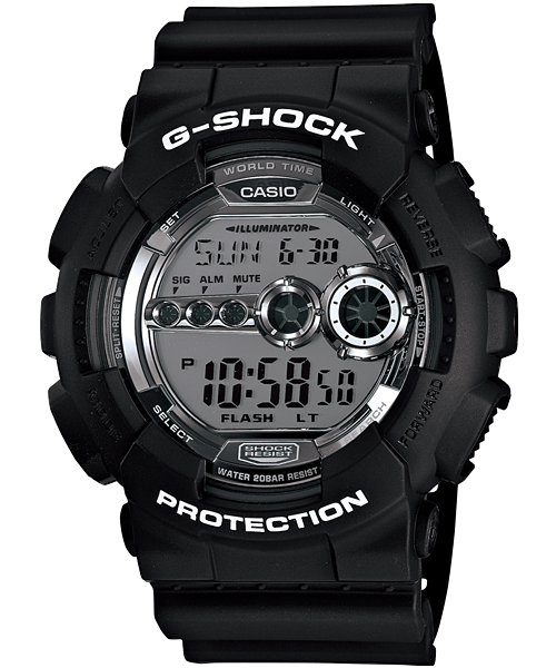 GShock G-Shock GD-100BW-1 BLACK&WHITE
