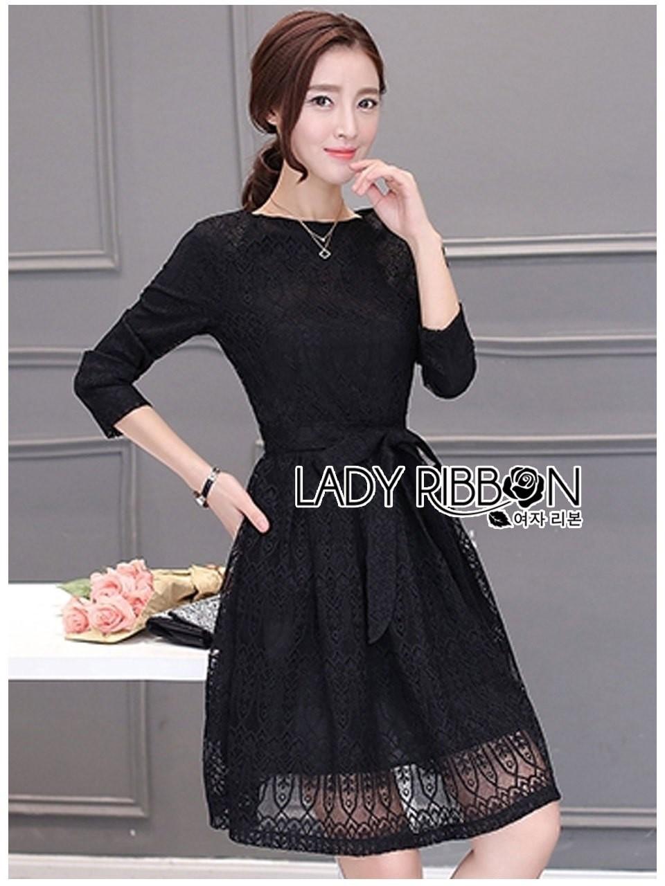 Rachel Sweet Classic Black Lace Dress