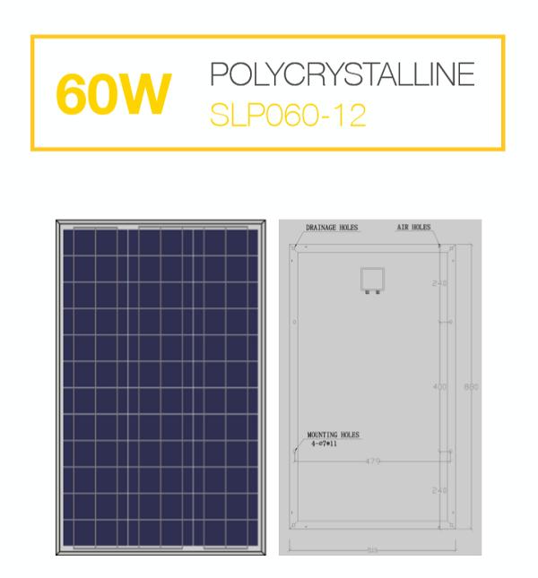 แผงโซล่าเซลล์ Solar Cell 60W Poly