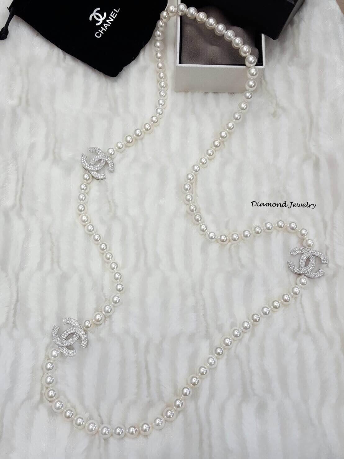 พร้อมส่ง Chanel Pearl Necklace รุ่นนี้เป็นงานมุกญี่ปุ่นเกรดดีมาก