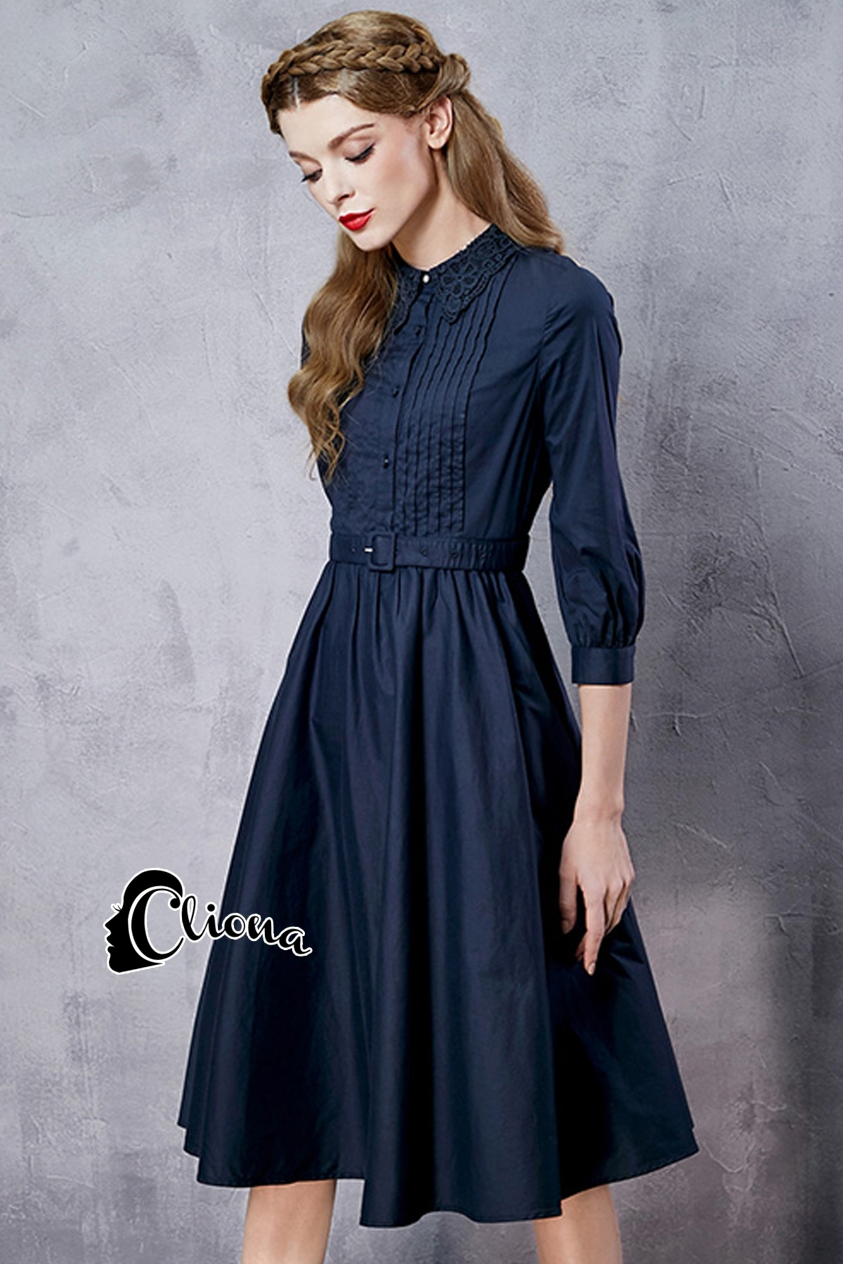 ชุดเดรสเกาหลี พร้อมส่งdress. สีดำ ผ้า cotton