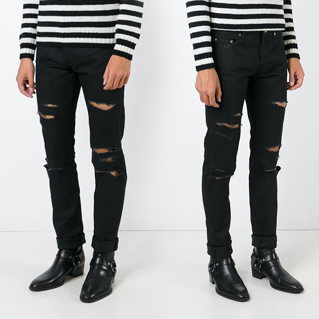 กางเกงSAINT LAURENT DESTROYED JEANS 1:1