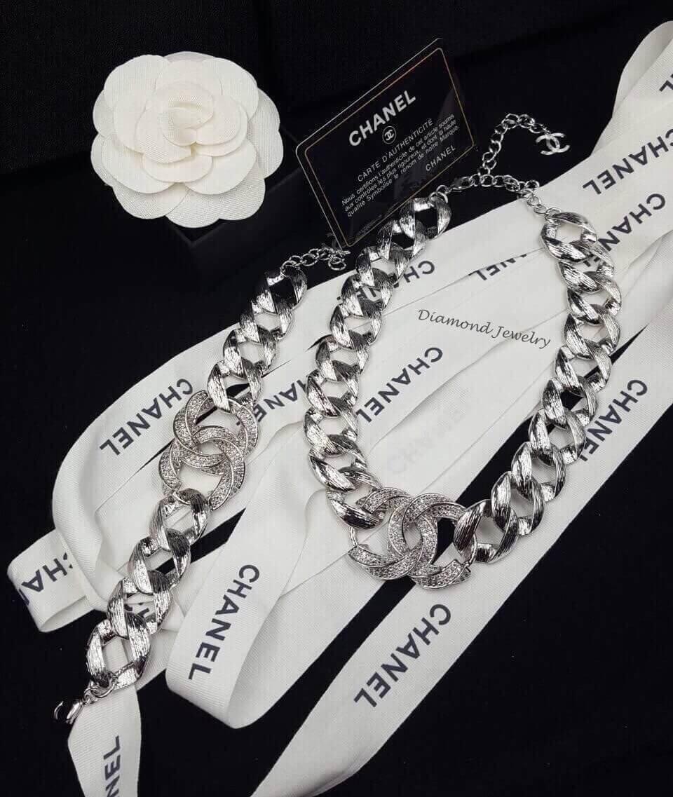 พร้อมส่ง Chanel Bracelet & Necklace สร้อยข้อมือชาแนล + สร้อยคอชาแนล