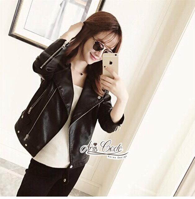 Lady rock leather jacket