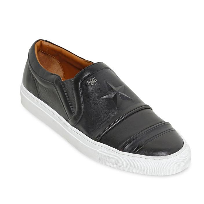 รองเท้าGivenchy Embossed Star Slip on (เทียบแท้)