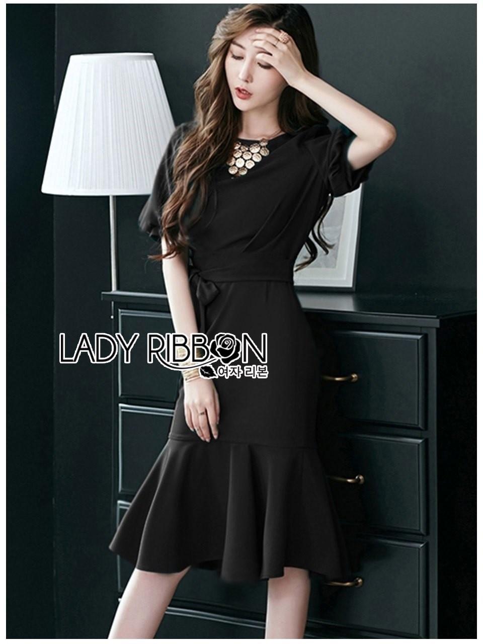 Anastasia Smart Casual Black Peplum Dress