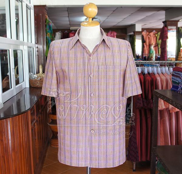 เสื้อสูทผ้าฝ้ายลายก้านมะลิ ไซส์ S