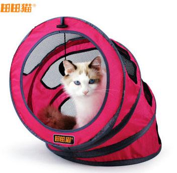 MU0014 อุโมงค์ที่นอนแมว เกลียวตาข่าย มีเบาะรองนั่ง ระบายอากาศได้ดี Spiral cat bed Fashion spiral cat litter