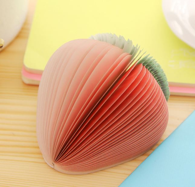 Fruit Notes Series Strawberry กระดาษโน๊ตรูปสตอเบอร์รี่